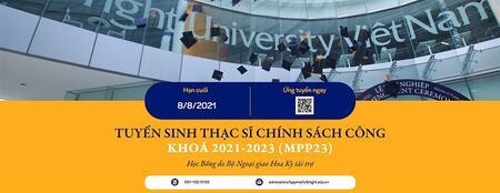 Thông báo về việc học bổng chương trình Thạc sĩ Chính sách công niên khóa 2021 - 2023