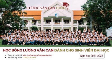 Thông báo về học bổng Lương Văn Can dành cho sinh viên năm học 2021-2022