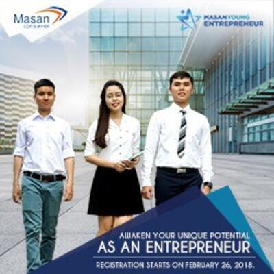 """Final year students of Food technology Faculty attended the program with the name of """"Young Entrepreneur""""of Masan Group (March 30th, 2018)"""