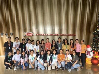 Students visit the Acecook Vietnam Factory (November 25th, 2019)