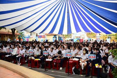 STU đồng hành cùng các bạn học sinh lớp 12 tại TP. Hồ Chí Minh trong kỳ thi Tốt nghiệp THPT.