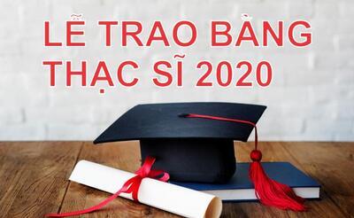 STU tổ chức lễ trao bằng thạc sĩ vào ngày 22/8/2020