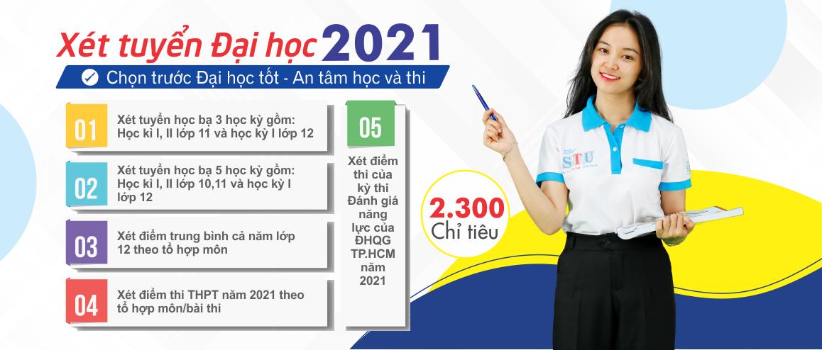 STU tuyển Sinh Đại Học Chính Quy 2021 với 5 phương thức